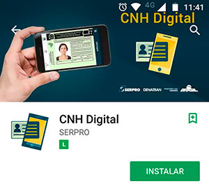 Aplicativo oficial da CNH Digital