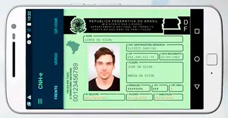 Carteira de Motorista Digital no celular